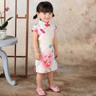 big flower prints qipao(instock)