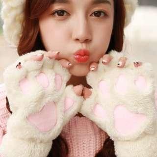 可愛貓抓手套
