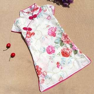 CNY clearance sale Rose oriental prints qipao
