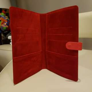 Red Credit Suisse Notebook Cover