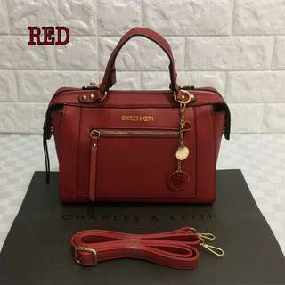 Charles & Keith Bag Red Color