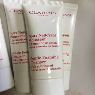 Clarins gentle forming cleanser with cottonseed 30ml