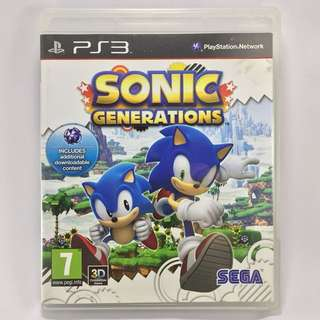 PS3 Game - SONIC GENERATIONS