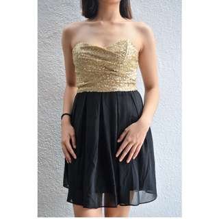 GOLD&BLACK FORMAL DRESS