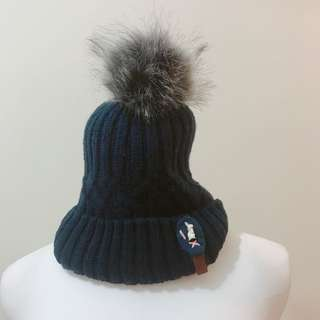 毛球毛線帽