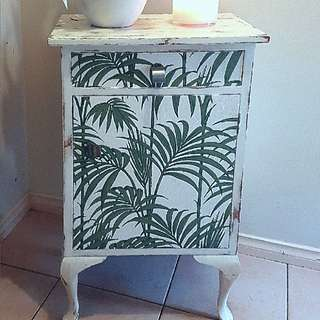 "Vintage Wooden ""Rustic Shabby Chic Style"" Cabinet / Side Table / Storage Drawers Cupboard."