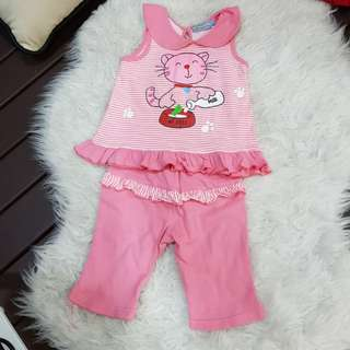 Mini Girl's Kitty set (1-2y/o)