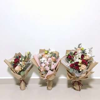 CLEARANCE Pink Rose / Red Rose Bouquet