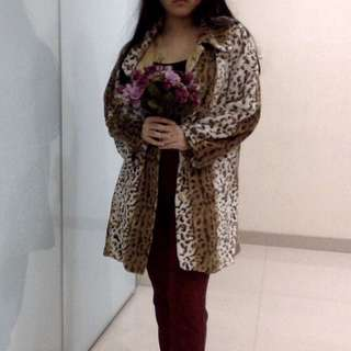 Cheetah/Leopard Coat Jacket motif