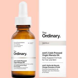 [Authentic] The Ordinary 100% Cold-Pressed Virgin Marula Oil
