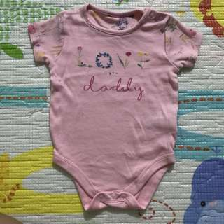 Mothercare Pink Love Daddy Onesie(6-9M)