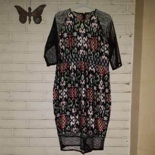 Dress lace tenun
