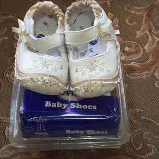 Enfant Baptismal/Party Shoes Cream Medium 12.5cm