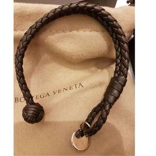 GENUINE Bottega Veneta Bracelet In Nero Intrecciato Nappa