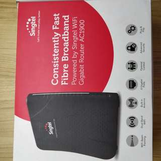 Singtel Wi-Fi router and modem