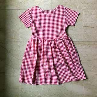 Red Checkered Babydoll dress