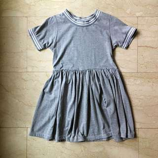 Grey Outline Babydoll Dress