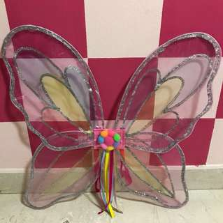 Butterfly wings and fairy wands