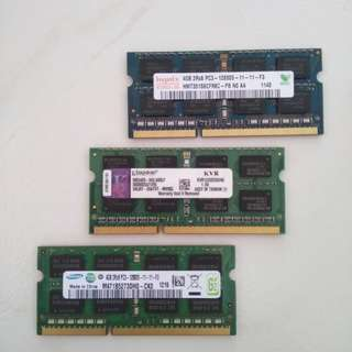 Laptop DDR3 rams