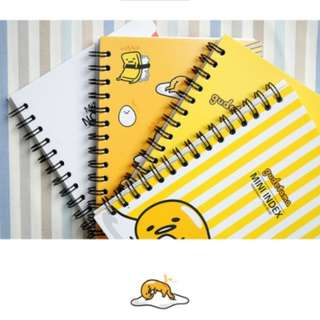 Sanrio Gudetama Mini Index Notebook (lined)