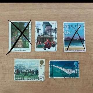 UK Stamps   Travel series
