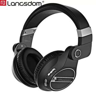 (PROMOTION)Langsdom BT20 Bluetooth Headphone Wireless Gaming Headset HiFi Headphones with Microphone for phone compture
