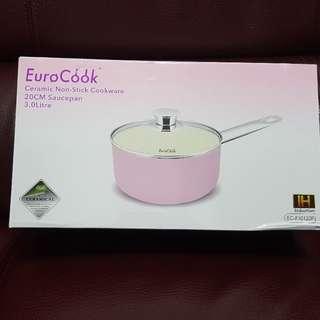 Euro Cook ~ 20cm平底深鍋