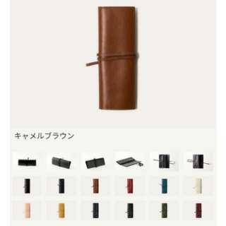 Business Leather Factory pencil case 真牛皮筆袋