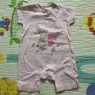 Mothercare Daddy's Little Cuddle Bunny Romper (3-6M)