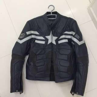 Captain America motorbike jacket M size