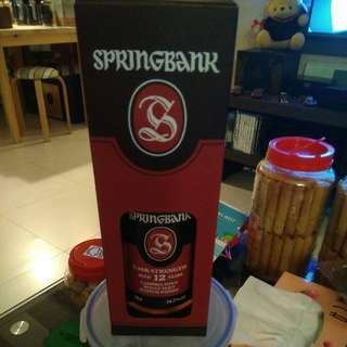 whisky springbank cask strength
