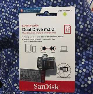 Sandisk Ultra Dual Drive m3.0 Android Smartphones 32GB USB