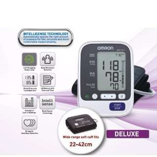 Large Cuff - Automatic Omron Blood Pressure Monitor - HEM 7130L - 60 Memories with Date and Time