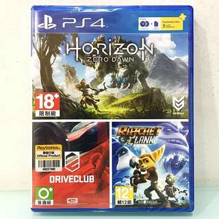 [PS4] Horizon Zero Dawn, Driveclub, Ratchet & Clank