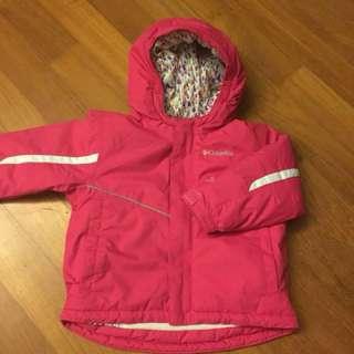 Columbia ski jacket and bib set