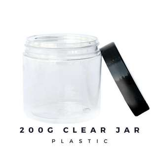 200g Clear Plastic Jar