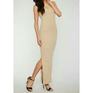 Forever 21 ribbed maxi dress with side slits