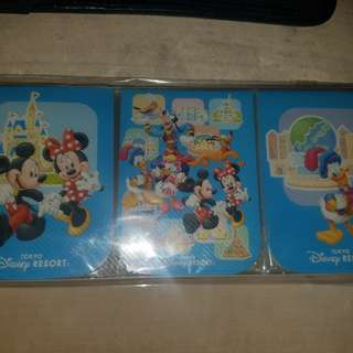 TOKYO DISNEYLAND Paper Notepads Memo Mickey Minnie Mouse Donald Duck (BRAND NEW)