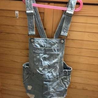 H&M連身短工人褲