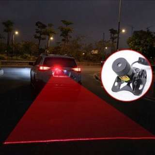 Laser anti-rear end warning lights