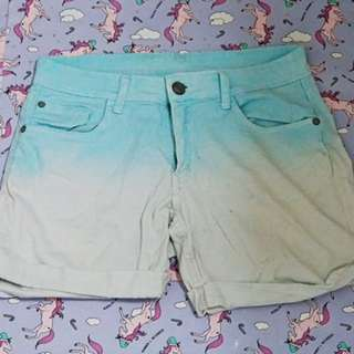 Blue/White Ombre Shorts