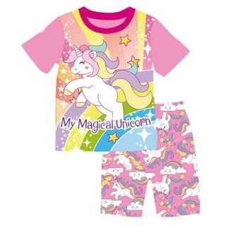Unicorn prints tee set