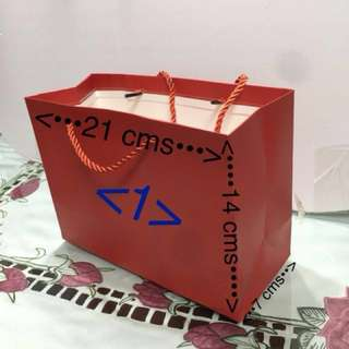 Plain Red Colour Paper Bag for Chinese New Year