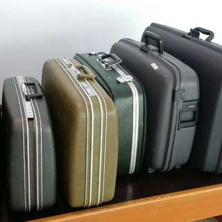 Vintage luggage briefcases