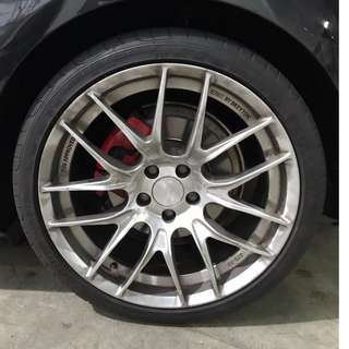 "19"" Breyton GTS-AV with tyres"