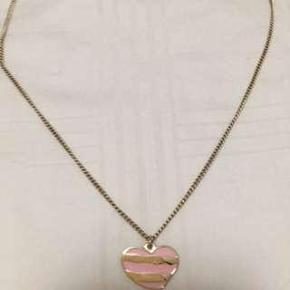 Ferragamo Pink necklace $150[zeal-tan]