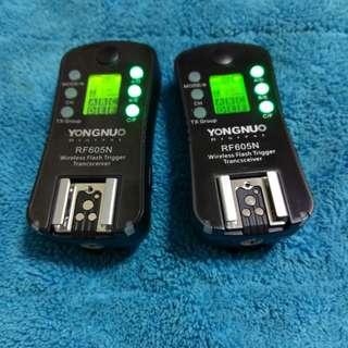 Yongnuo RF605N Flash trigger