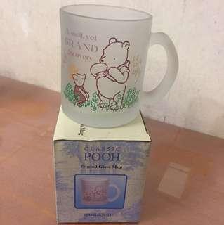 Winnie the pooh frosted glass mug 磨砂玻璃杯