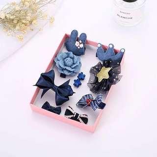 Korean kid hair accessories-Blue/韩国女童可爱淑女型发饰-蓝色