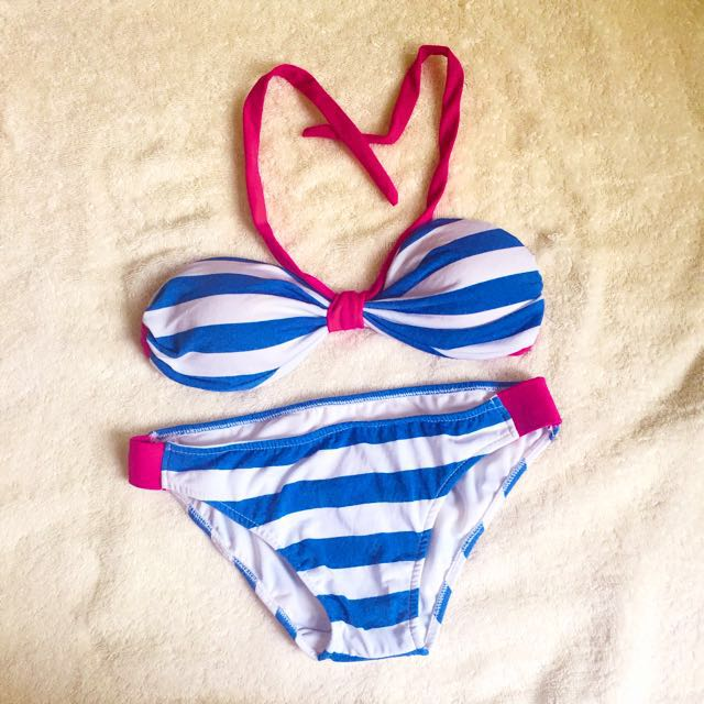 2 PIECE SAILOR STRIPES BIKINI SWIMWEAR